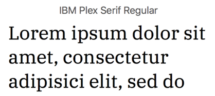 The IBM Plex font