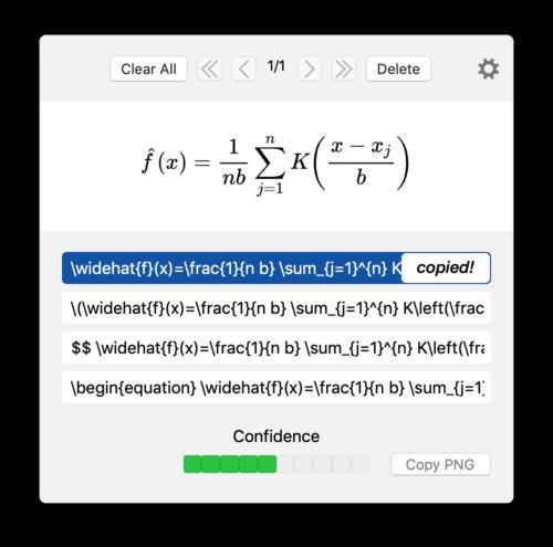 Convert images to LaTeX - aliquot
